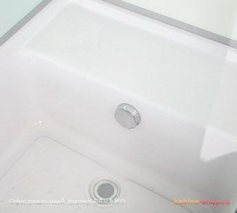 Душевая кабина ESBANO - высокий поддон с сиденьем и переливом