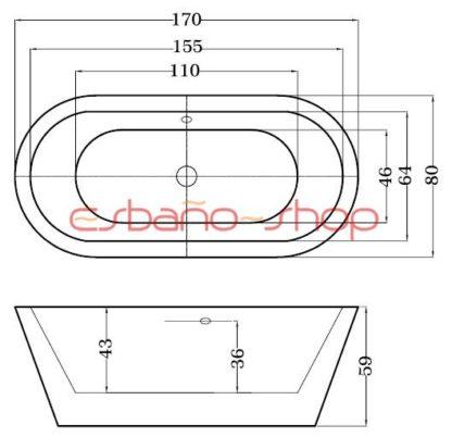 Схема ванна отдельностоящая esbano berlin