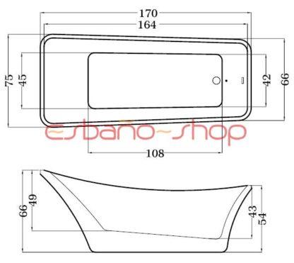 Схема ванна отдельностоящая esbano berne