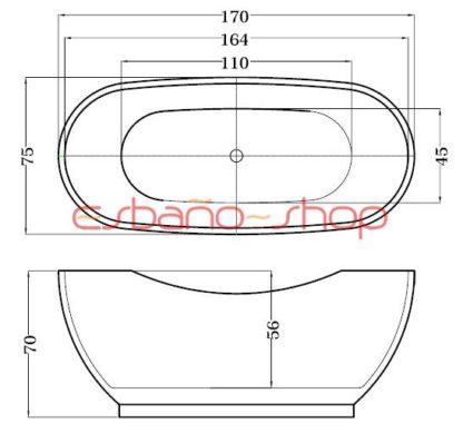 Схема ванна отдельностоящая esbano madrid
