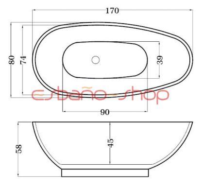 Схема ванна отдельностоящая esbano monaco