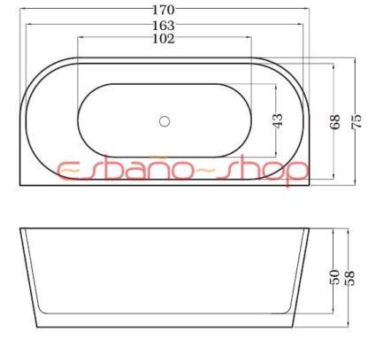 Схема ванна отдельностоящая esbano paris